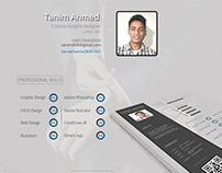 CV/Resume Template PSD
