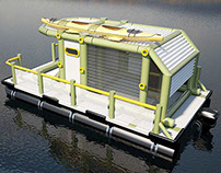 mini houseboat