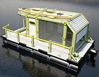 mini houseboat