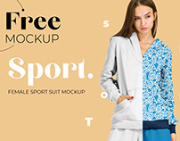 Free Female Sport Suit Mockup for Fabric Designers