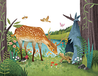 The Woodpecker, the Tortoise and the Deer