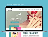 PLANTILLA WEB BELLEZA