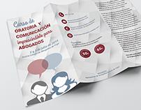 Material informativo: Curso de Oratoria para abogados