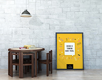 Gallery Furniture With Poster Mockup Free