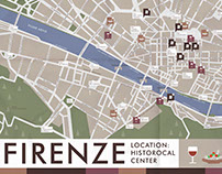 Map of Food places in Florence.