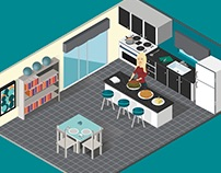 Isometric - Dinner Party