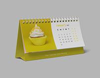 Free Calendar Desk Mockup