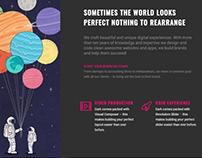 Creative Services Page - Dark WordPress Theme
