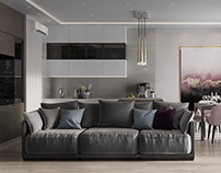Visualization of an apartment in a modern style