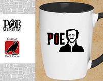 Classic Books Design Poe Mug - ClassicBooklovers.com