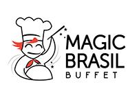 Projeto de identidade visual Magic Brasil Buffet