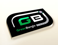 green bangla logo design
