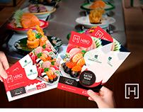 Hiro Restaurante | Identidade visual inauguração