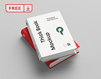 Free Thick Book Mockup
