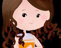 Capa para fanpage - Mascote e fundo aquarelado