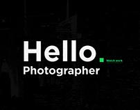 Hello. Photographer. Creative portfolio.