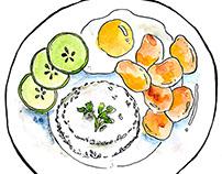 Food Illustration for Tampuhan Cafe Merchandise
