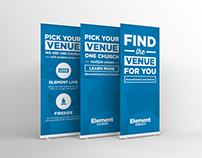 Venue Retractable (Roll-Up) Banner Design