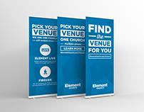 Venue Retractable (Roll-Up) Banner Design
