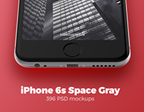 iPhone 6s Space Gray mockups + FREEBIE