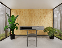 Home Office VR Scene Virtual Desktop + 3ds Max