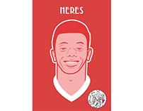AFC Ajax player illustrations
