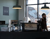 Cafe Sejd - Visual identity & interior design