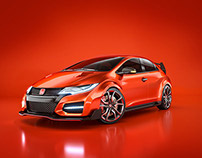 Civic Type R - 3d