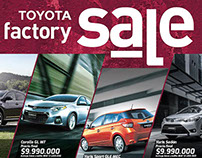 Toyota Factoy Sale - Printed Ads [L'Kovacs Car Dealer]