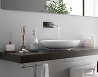 Interior bathroom realistic render