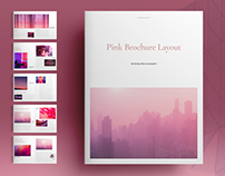 Pink Brochure Layout