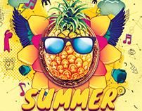 Summer festival flyer design