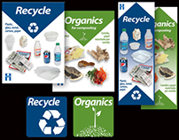 Stickers: Recycle and Organics