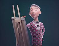 """Georg - The """"Artist"""" (3d Model)"""