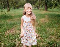 Silk dress for a little princess