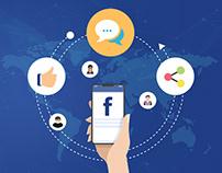 Flat Icons Social Media set