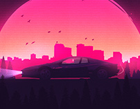 Cruise Control poster design for a game ( app )