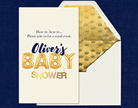 Baby Shower Invitation and Snapchat Geofilter