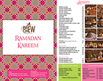 Brew & chew ramadan menu