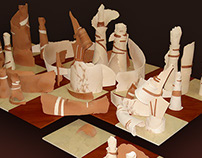 "Sculpture composition ""Chess"""