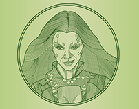 Gamora - Line Illustration