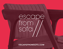 ESCAPE FROM SOFA // Portfolio Web Design