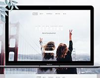 Photography website designe
