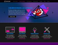 Desenho da Interface do site da Prisma Consultoria