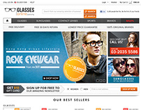 Website UI - Glasses Online - Ecommerce Wesbite