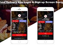 Online Food Delivery App Login & Sign up Screen Design