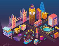 Isometric London - vector illustrations
