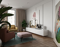 Design of a 2-room apartment in Kiev