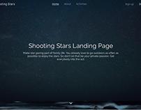 Shooting stars landing page