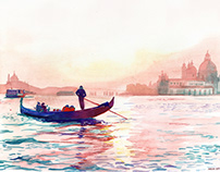 watercolors of Venice